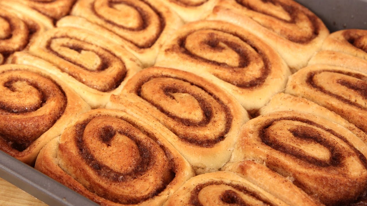 Homemade Cinnamon Buns - Laura Vitale - Everybody Loves Life
