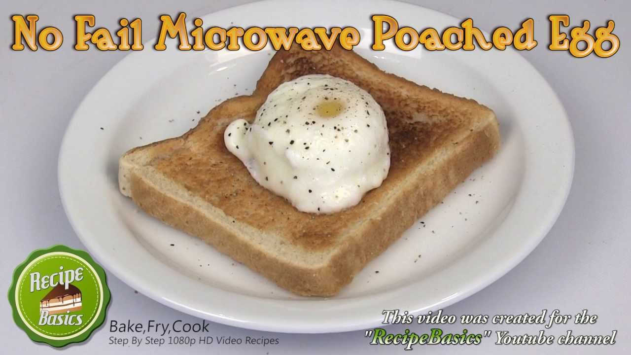 Eggs Poached – Easy, Quickly in the Microwave