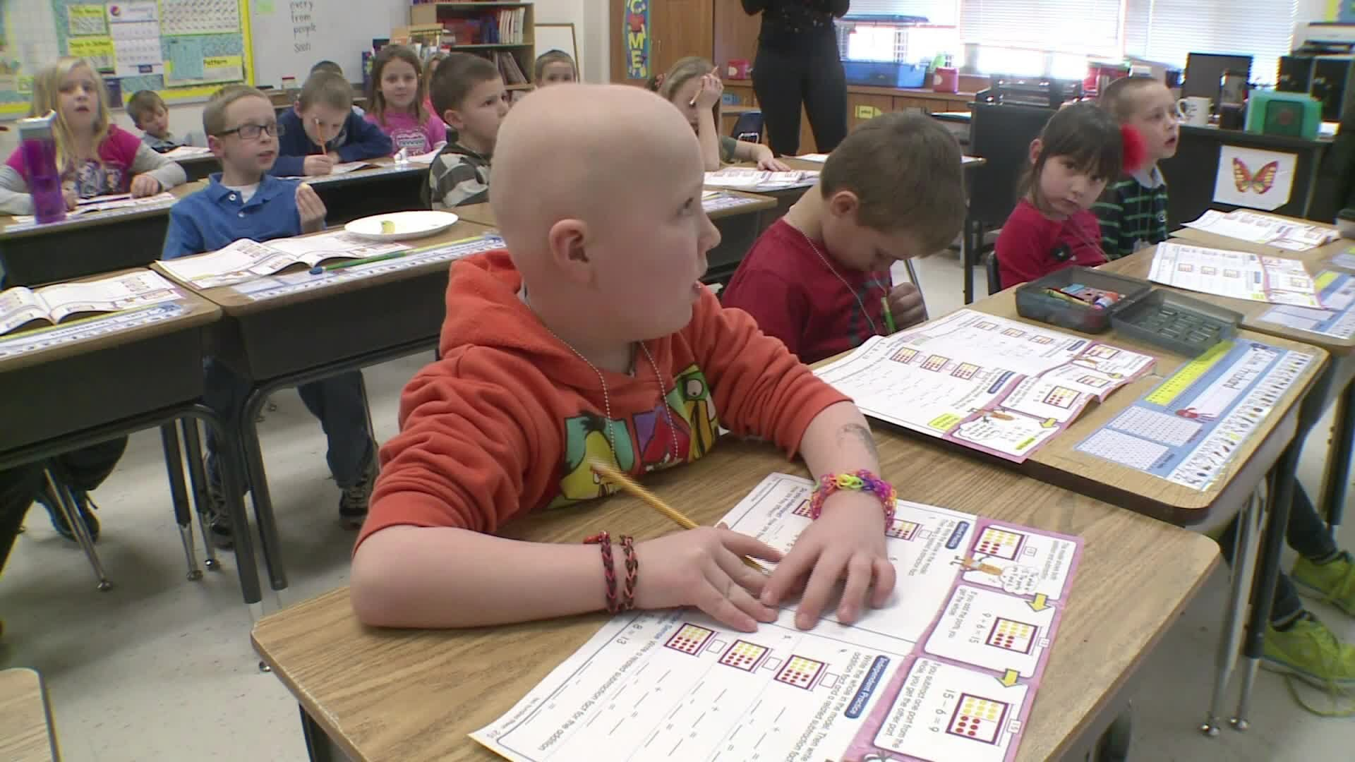First Grader Shaves His Head for His Friend with Cancer