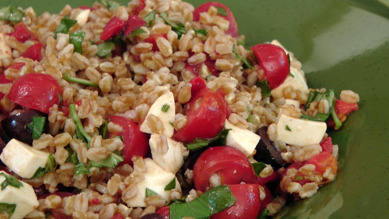 """Farro Salad"" —– Ancient Grain Laura Vitale – Italian Cook Book"