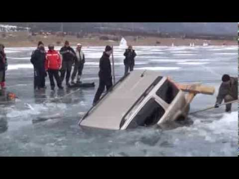 "Pulling a Car out of Frozen Lake – ""Old School"""
